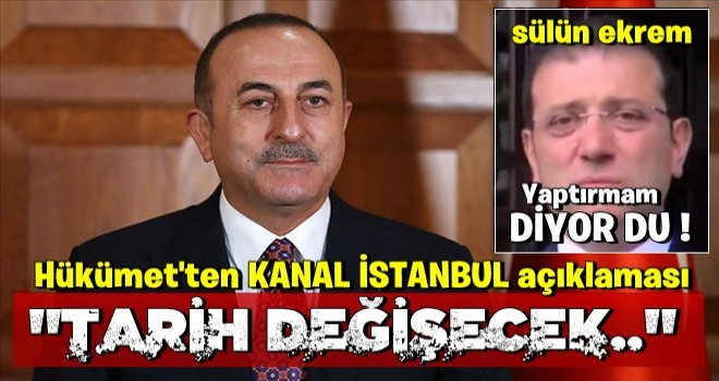Hükümetten Kanal İstanbul açıklaması!
