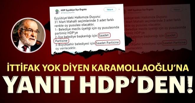 HDPKK ile Saadet Partisi'nin kirli ittifakı deşifre oldu