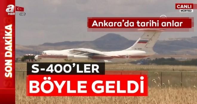 S-400'ler Ankara'da! İşte ilk görüntüler...