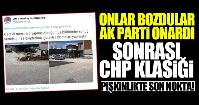 CHP pişkinliği! İBB bozdu AK Parti yaptı!