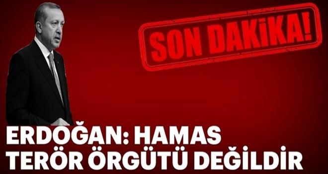 Cumhurbaşkanı Erdoğan: Filistinliler terörist değildir