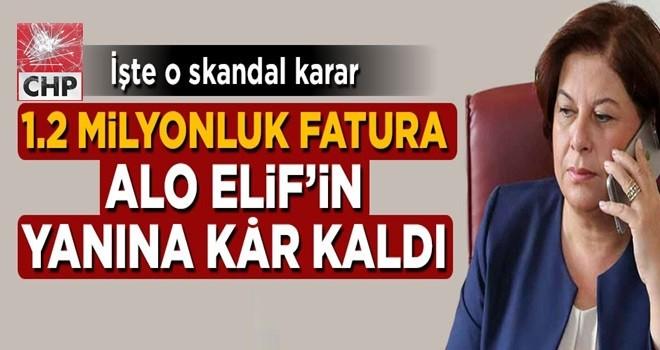 1.2 milyonluk fatura Elif Doğan Türkmen'in yanına kâr kaldı