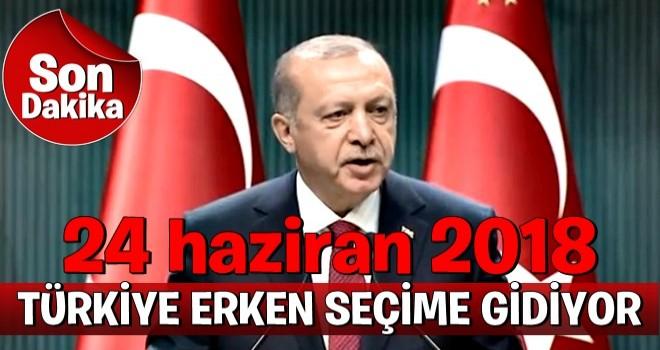 TÜRKİYE ERKEN SEÇİME GİDİYOR..