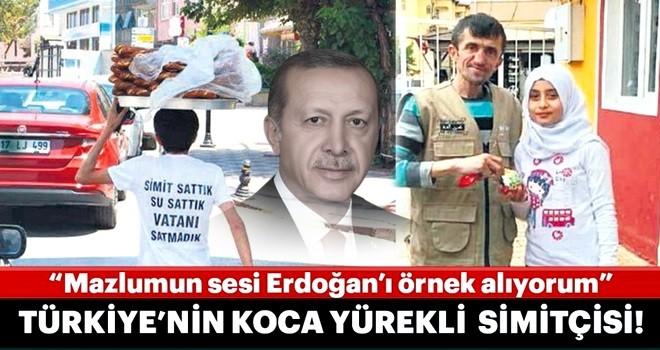 Türkiye'nin koca yürekli simitçisi