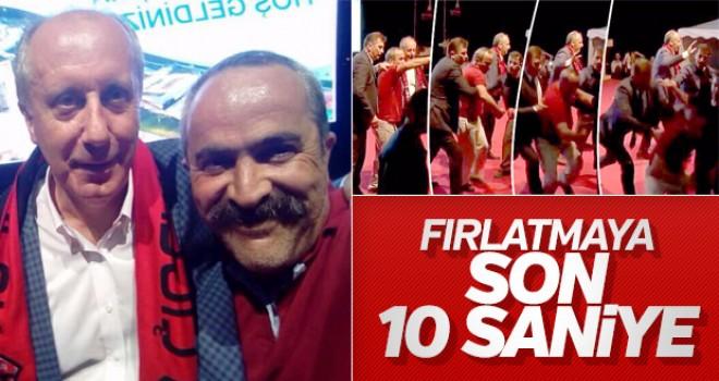 İnce'nin korumalarının fırlattığı CHP'li rekora koşuyor