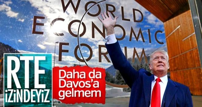 Trump Davos'a gitmeyeceğini açıkladı