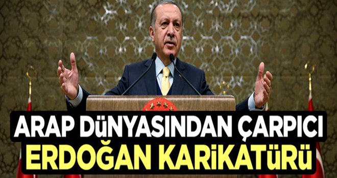 Arap dünyasından çarpıcı Erdoğan karikatürü!