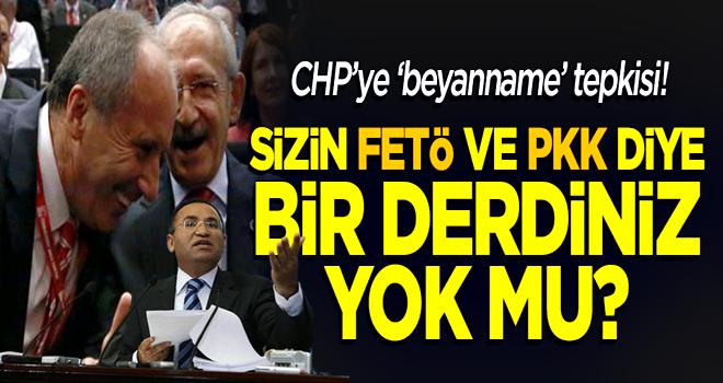 Bozdağ'dan CHP'ye tepki: Sizin FETÖ ve PKK ile mücadele diye bir derdiniz yok mu?