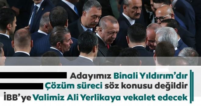 Cumhurbaşkanı Erdoğan'dan, YSK'nın İstanbul kararına ilişkin açıklama