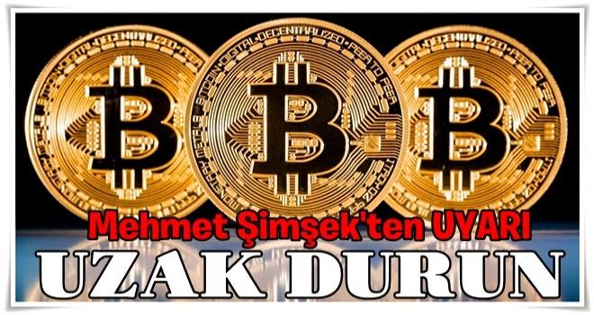Mehmet Şimşek'ten Bitcoin açıklaması: Uzak durun