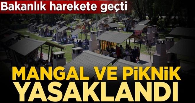 Bakanlık harekete geçti! Mangal ve piknik yasaklandı