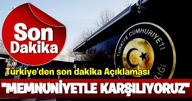 Türkiye'den operasyonla ile ilgili ilk açıklama