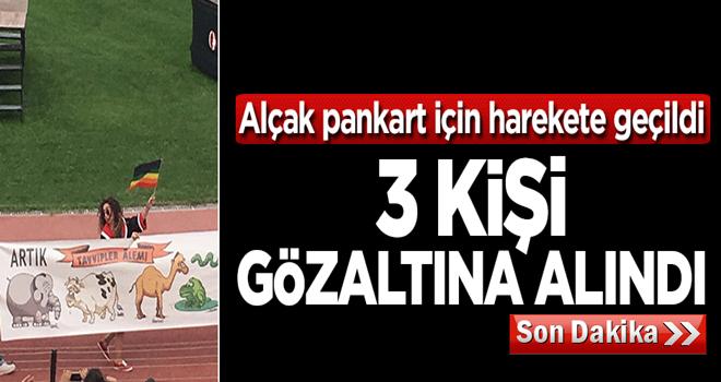 ODTÜ'deki alçak pankartı taşıyan 3 kişi gözaltına alındı