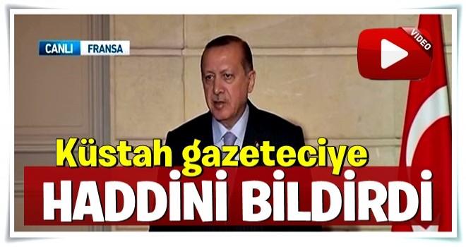 Erdoğan'dan Fransız Gazeteciye tokat gibi sözler