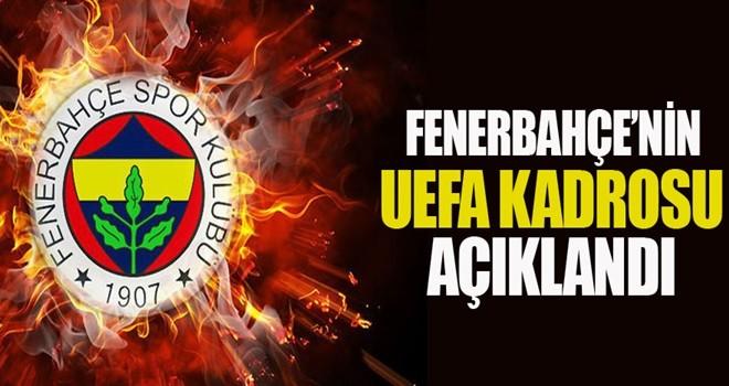 F.Bahçe'nin UEFA kadrosu açıklandı