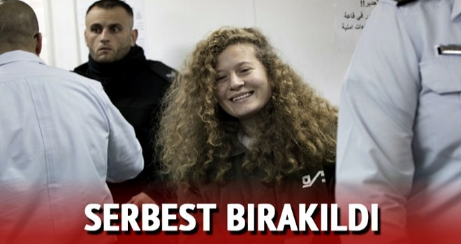 Filistinli cesur kız Ahed Tamimi serbest bırakıldı
