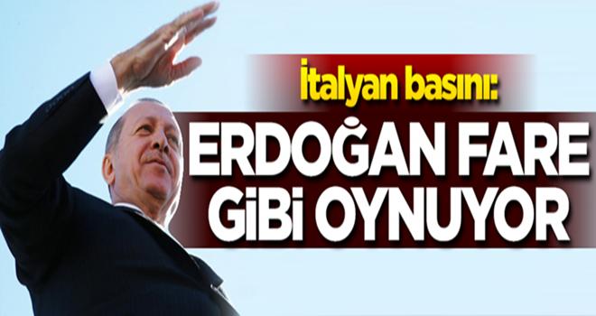 İtalyan basını: Cumhurbaşkanı Erdoğan fare gibi oynuyor