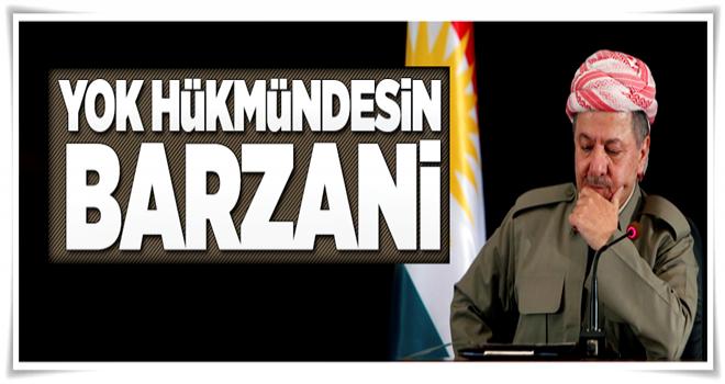 Barzani'den geri adım  .