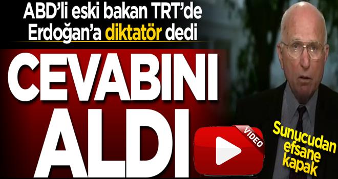 TRT World'de Amerikalı eski bakana Erdoğan kapağı