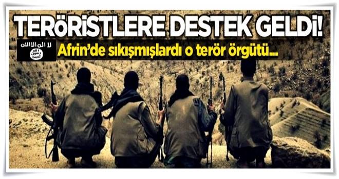 Afrin'de sıkışan teröristlere 'destek' geldi!