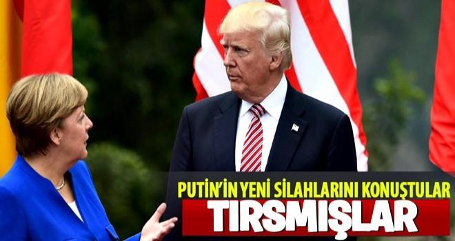 Merkel ve Trump telefonda Putin'in yeni silahlarını konuştu!