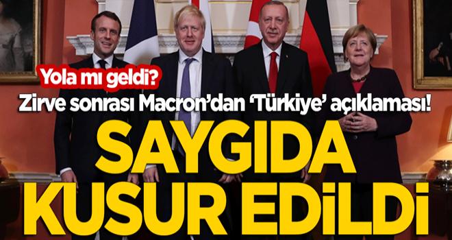 Zirve sonrası Macron'dan 'Türkiye' açıklaması: Saygıda kusur edildi