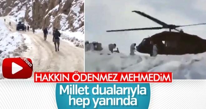 Mehmetçik zorlu şartlarda vatan nöbetinde