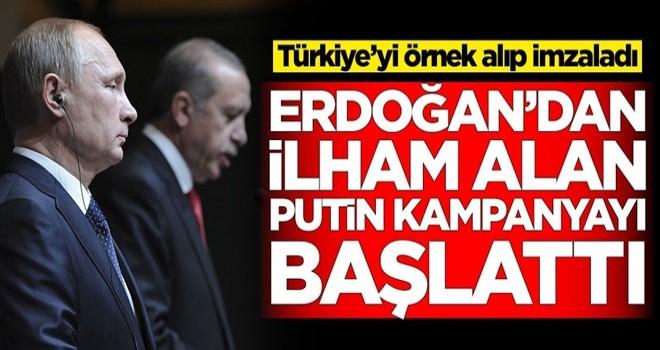 Putin, Erdoğan'dan ilham aldı! Kampanyayı duyurdu