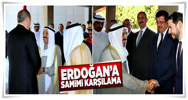 Cumhurbaşkanı Erdoğan Kuveyt'te böyle karşılandı  .