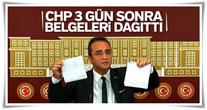 CHP belgeleri basınla paylaşıyor