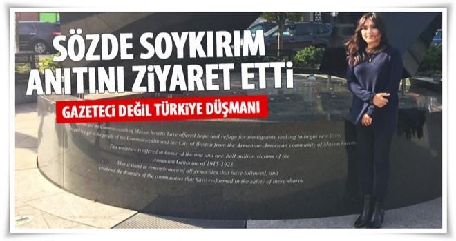 Amberin Zaman Ermeni anıtında