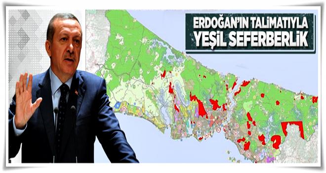 Erdoğan'ın talimatı: Askeri alanların hepsi yeşil kalacak  .