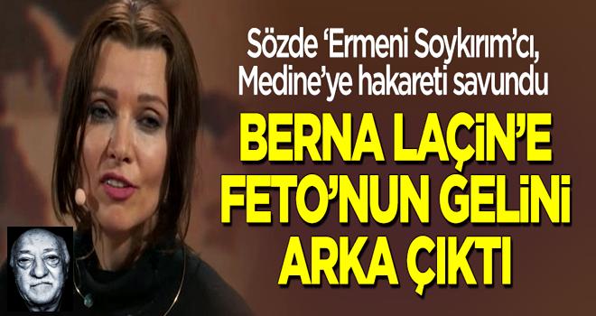Medine'ye hakaret eden Berna Laçin'e Gülen'in gelini Elif Şafak arka çıktı!