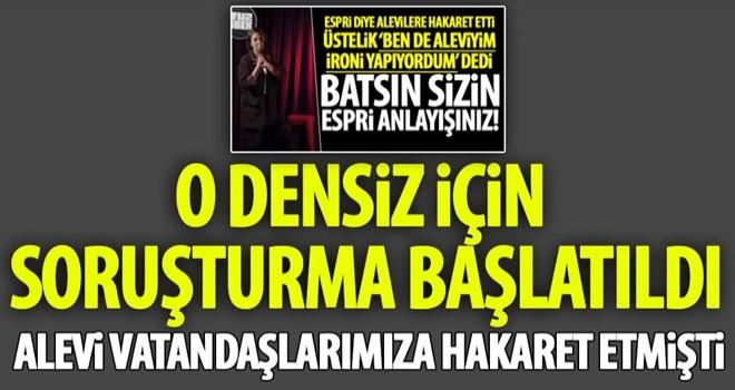 Komedyen Pınar Fidan Hakkında Soruşturma Başlatıldı