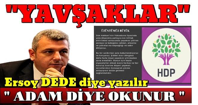 HDP'nin açıklamasına ''ADAM'' dan en sert açıklama..