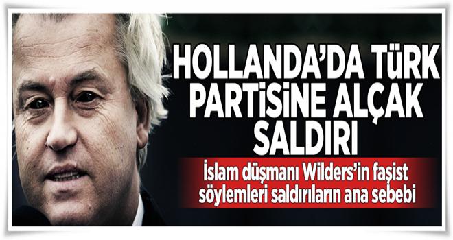 Hollanda'da Türklerin partisine ırkçı mektup  .