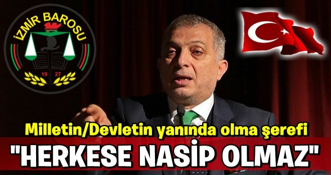 İzmir Barosu'nun skandal açıklamasına, M.Külünk'ten kapak gibi cevap