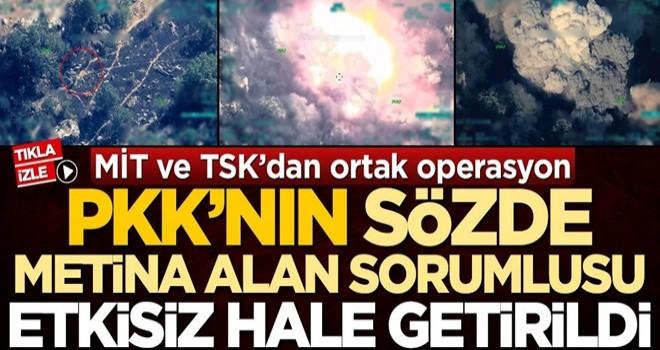 MİT ve TSK'dan operasyon! PKK'nın sözde