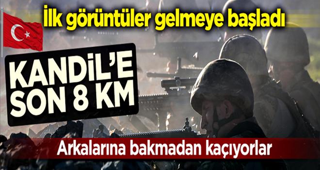 İlk görüntüler geldi! Mehmetçik Kandil'e 8 km mesafede