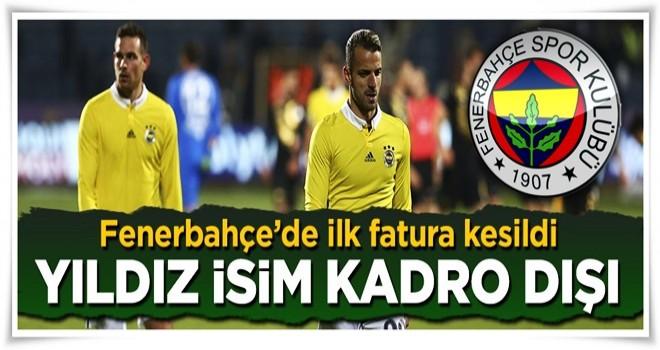 Fenerbahçe'de Mehmet Topal kadro dışı kaldı