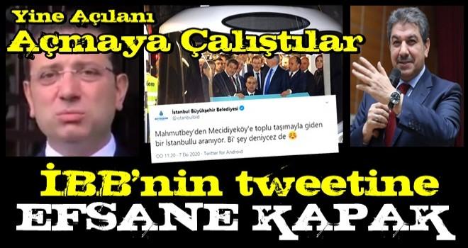 İBB'nin tweetine Mehmet Tevfik Göksu'dan efsane cevap!