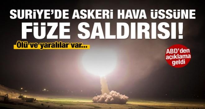 Suriye'de askeri hava üssüne füze saldırısı