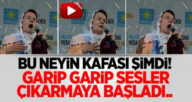 İP'li Meral Akşener mitingde uludu: Heeeuvvv!