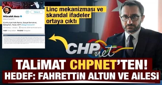 CHP'nin resmi iç iletişim sistemi CHPnet'te Fahrettin Altun'a organize saldırı talimatı!