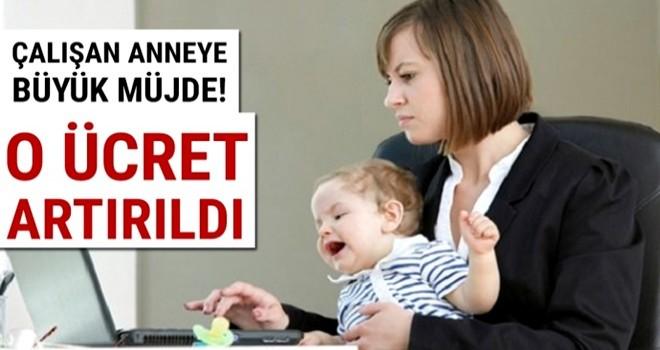 Çalışan anneye büyük destek