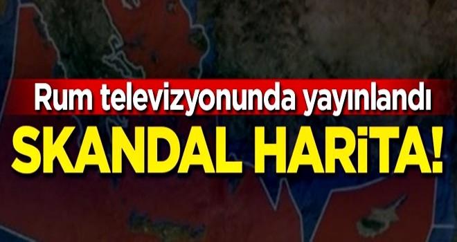 Rum televizyonunda skandal harita!