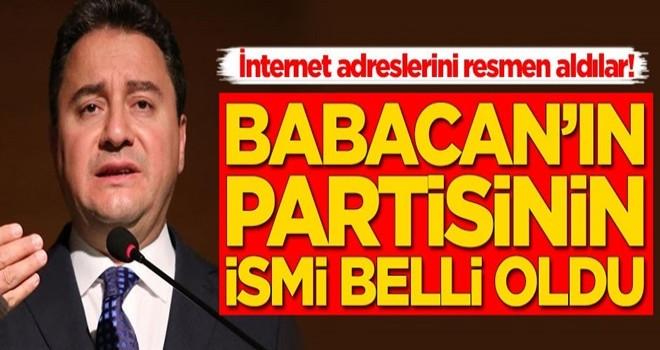 Ali Babacan'ın kuracağı partinin isim adreslerini aldılar