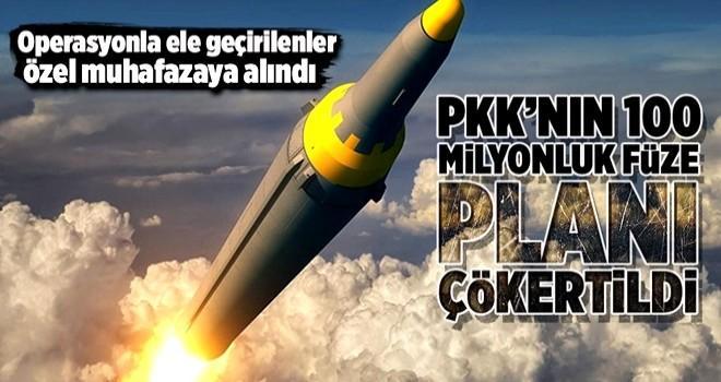 PKK'nın 100 milyonluk füze planına darbe .