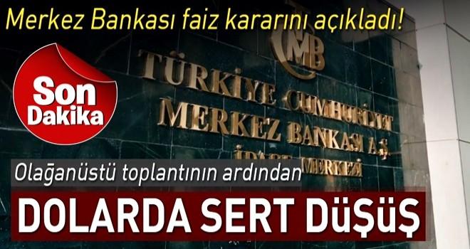 Merkez Bankası'ndan flaş 'faiz' kararı! Dolarda son durum...
