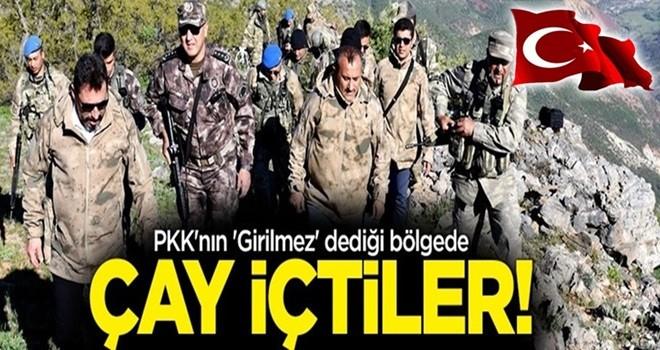 Mehmetçik, PKK'nın 'Girilmez' dediği bölgede çay içti!